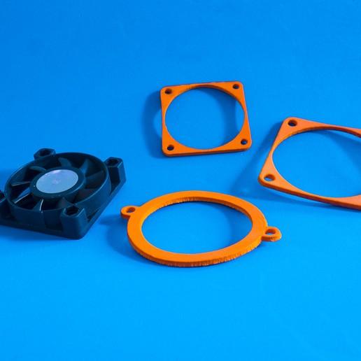 Download free 3D model EVA Foam Fan dampener gaskets for Laser Cut, dancingchicken