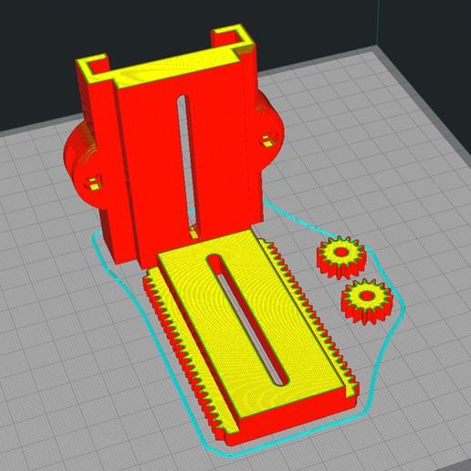 F6.jpg Download free STL file Laser quick release + Z axis fine adjustment • 3D print model, dancingchicken
