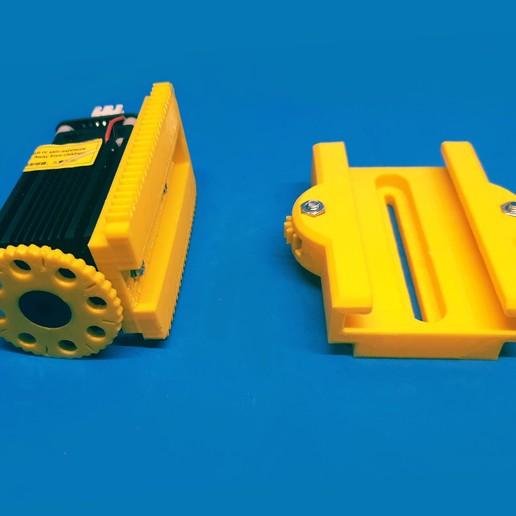 F3.jpg Download free STL file Laser quick release + Z axis fine adjustment • 3D print model, dancingchicken