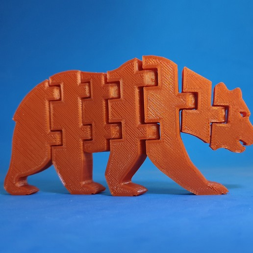 Download free 3D printer templates Flexi Grizzly, dancingchicken