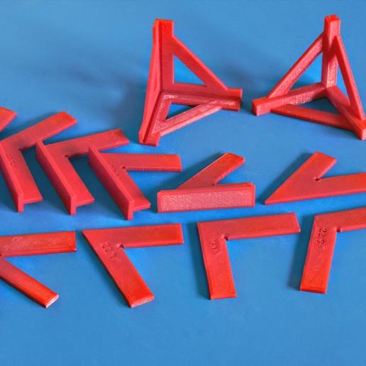 Download free 3D printer templates Set of Craft Squares, dancingchicken