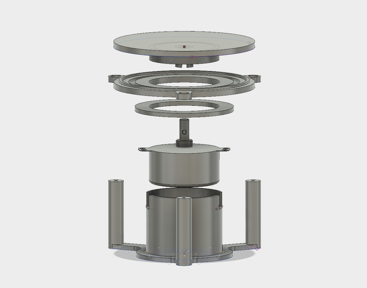 Plano.png Download free STL file Motorized TurnTable with microwave motor • 3D printer object, dancingchicken