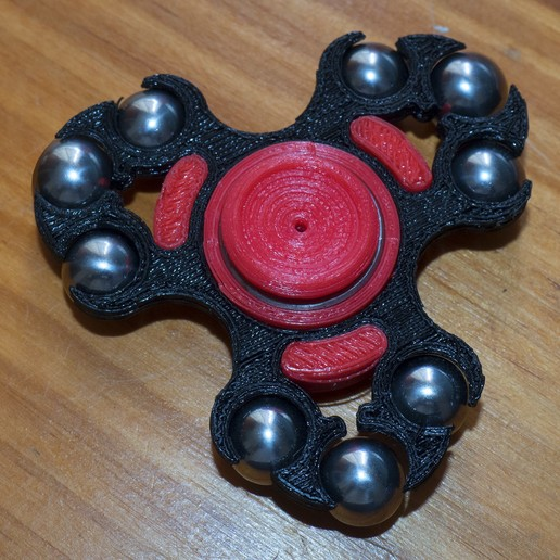 AMF00325copia.jpg Download free STL file AMF Spinner v5 for 9.5mm steel balls • 3D printable object, dancingchicken