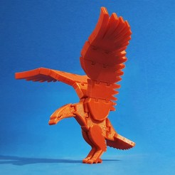 F1.jpg Download free STL file Flexi Eagle • Template to 3D print, dancingchicken