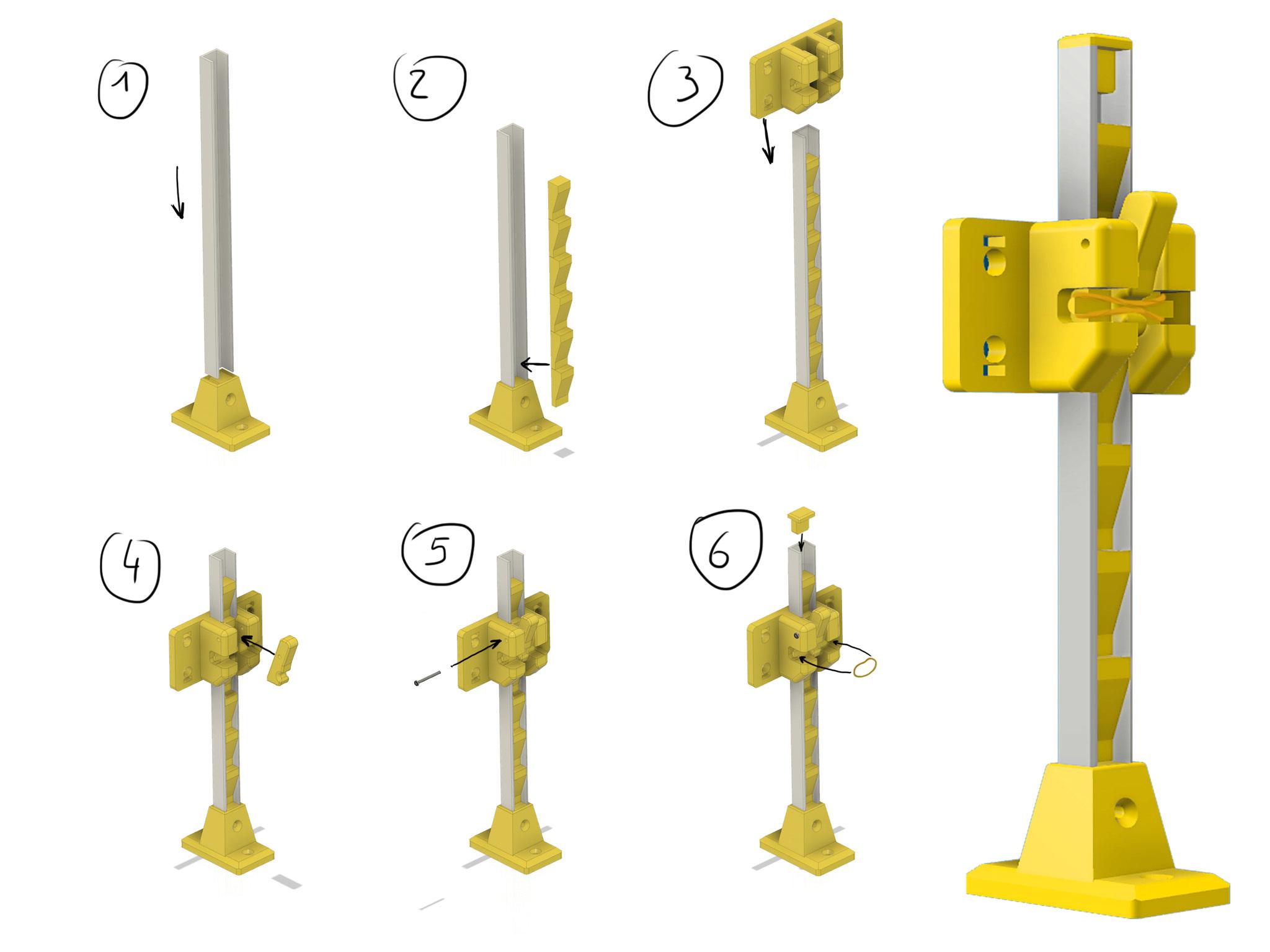 Foto5.jpg Download free STL file Laser Lifting Feet • 3D printing template, dancingchicken