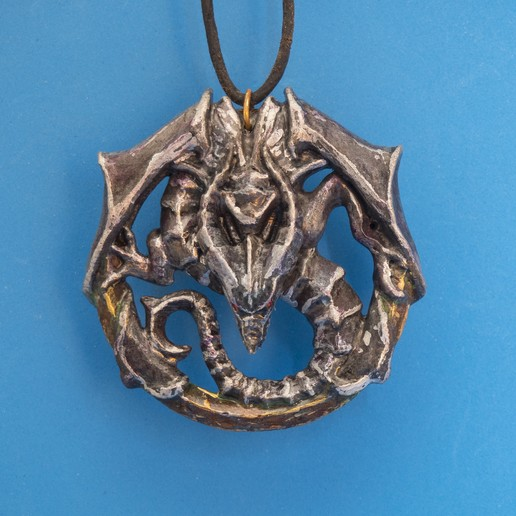 Download free 3D printer designs Dragon Talisman from Castlevania 2, dancingchicken