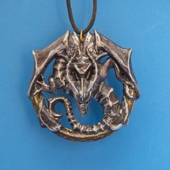 Download free 3D printer designs Dragon Talisman from Castlevania 2, dancingchicken
