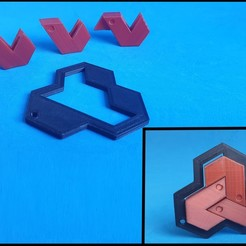 F1.jpg Download free STL file The shift & slide Hexagon Puzzle • 3D printing model, dancingchicken