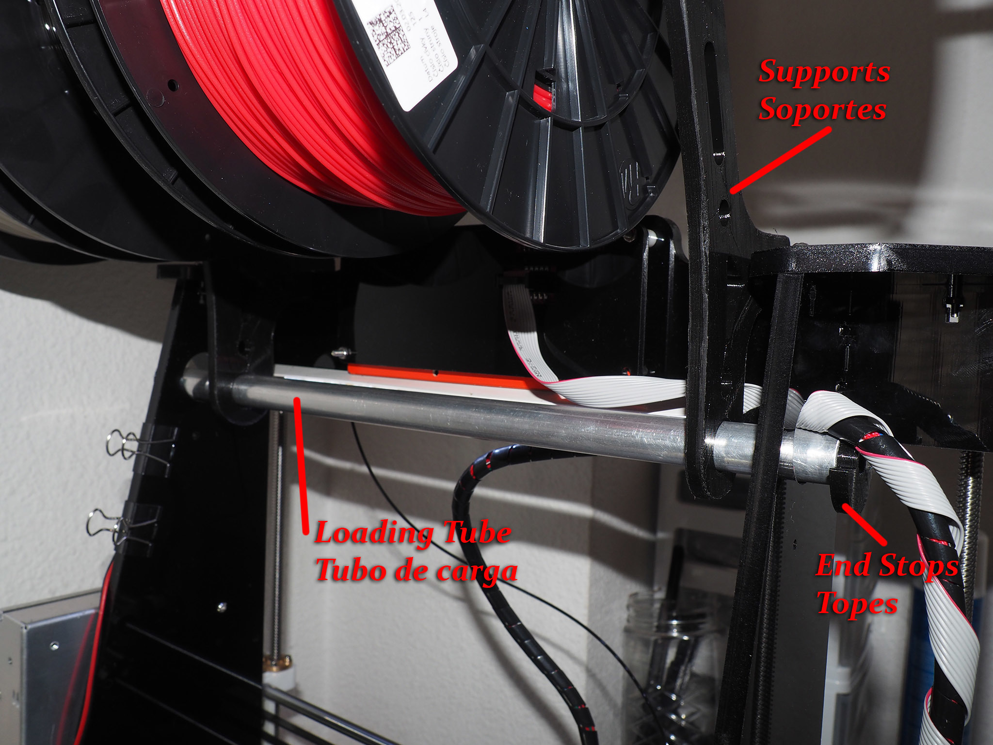 AMF00315_copia.jpg Download free STL file Strong 4 Spool Holder • 3D printer object, dancingchicken