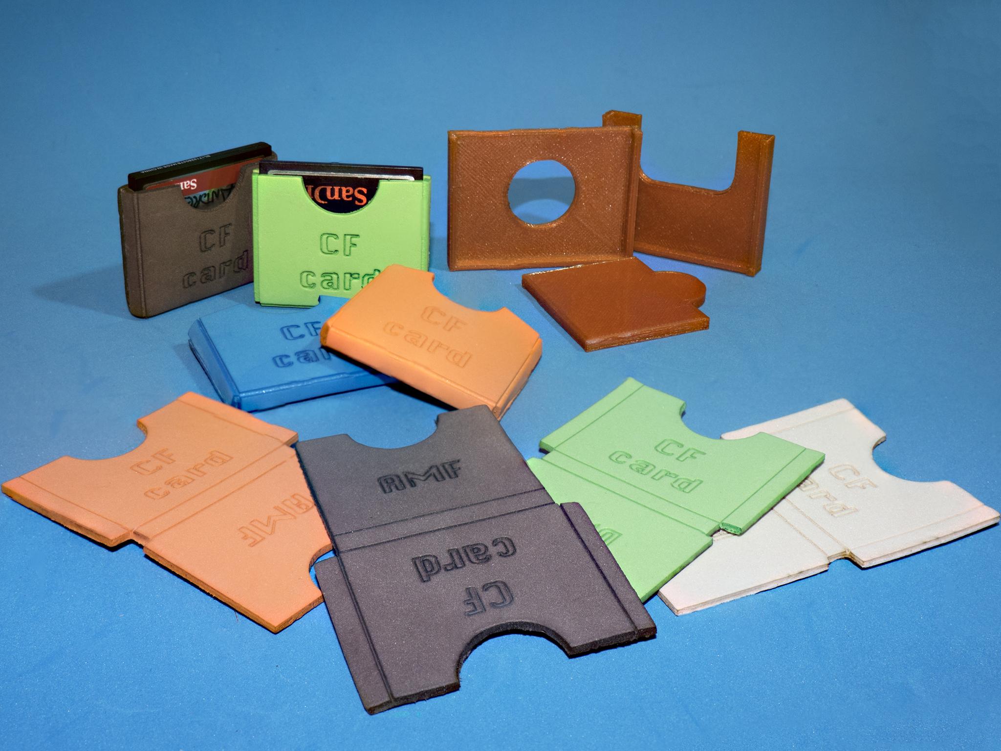 1.jpg Download free STL file Lasercut EVA foam CF Card sleeve + gluing jig • 3D printing template, dancingchicken