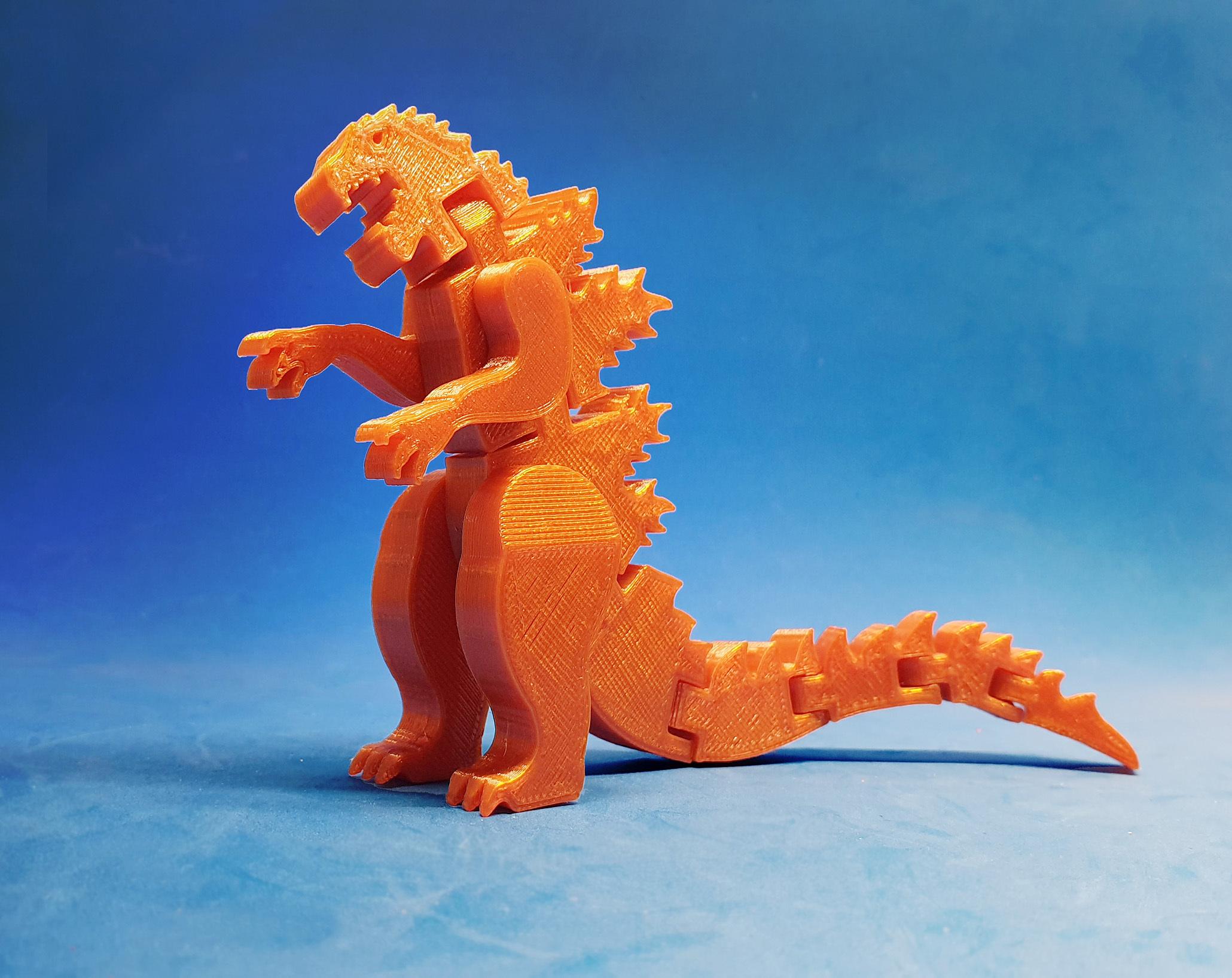 F1.jpg Download free STL file Flexi Godzilla • 3D printable object, dancingchicken