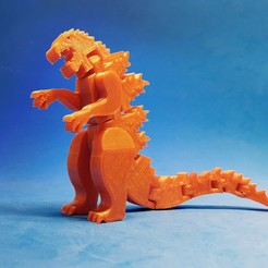 F1.jpg Download free STL file Flexi Godzilla • 3D printable object, dancingchicken