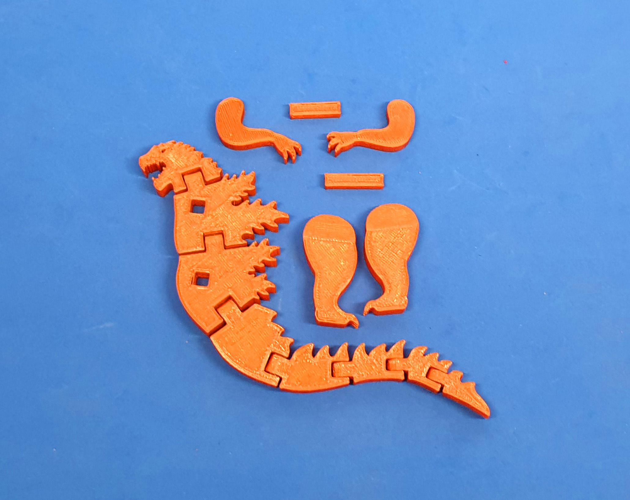 F3.jpg Download free STL file Flexi Godzilla • 3D printable object, dancingchicken