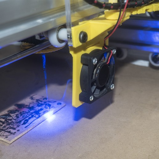 Download free 3D printer files Laser Fume Blower support, dancingchicken