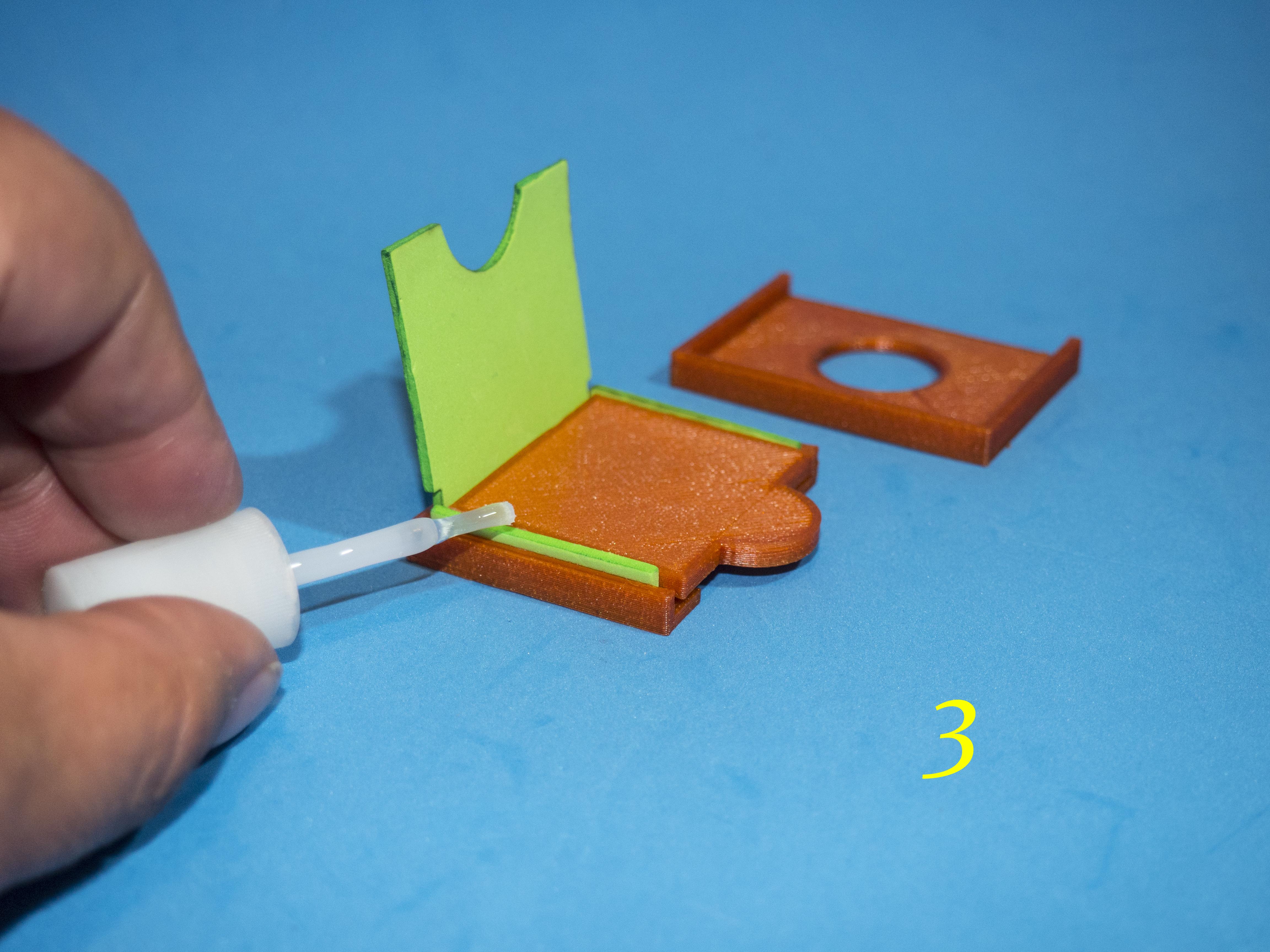 4.jpg Download free STL file Lasercut EVA foam CF Card sleeve + gluing jig • 3D printing template, dancingchicken