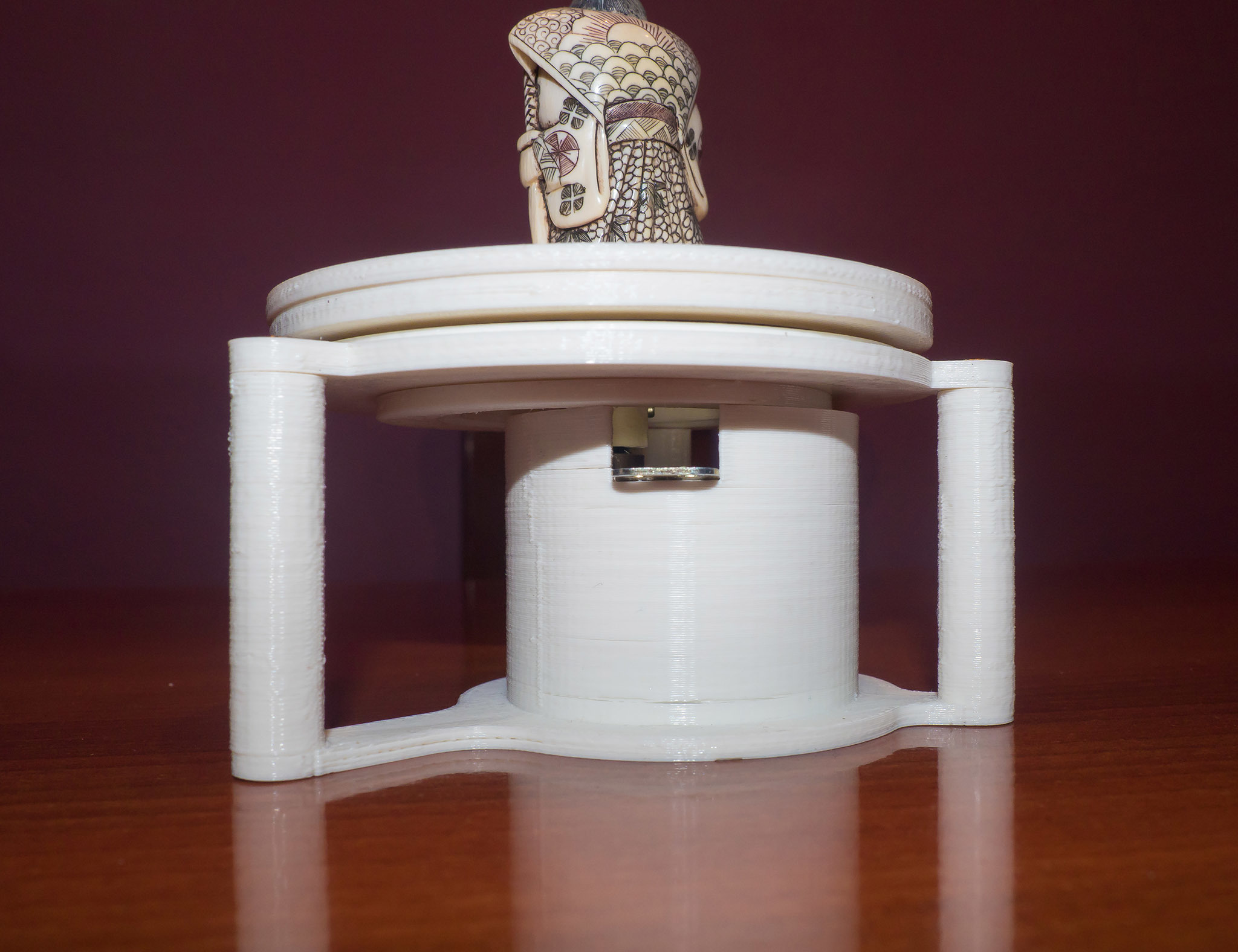 AMF00022-LR_Fin.jpg Download free STL file Motorized TurnTable with microwave motor • 3D printer object, dancingchicken
