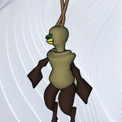 Imprimir en 3D gratis hombre monstruo, dancingchicken