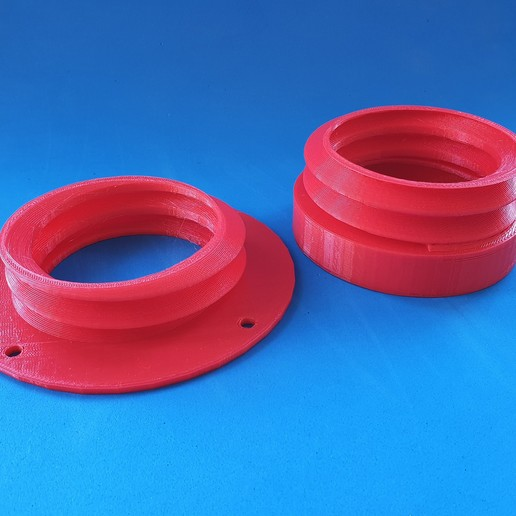 Download free 3D model K40 laser exhaust hose flange, dancingchicken