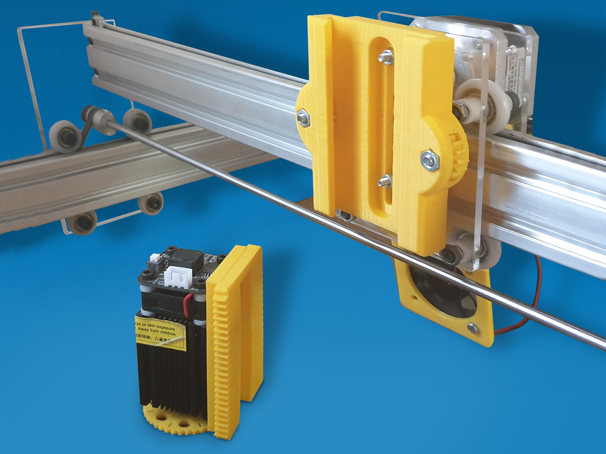 F1.jpg Download free STL file Laser quick release + Z axis fine adjustment • 3D print model, dancingchicken
