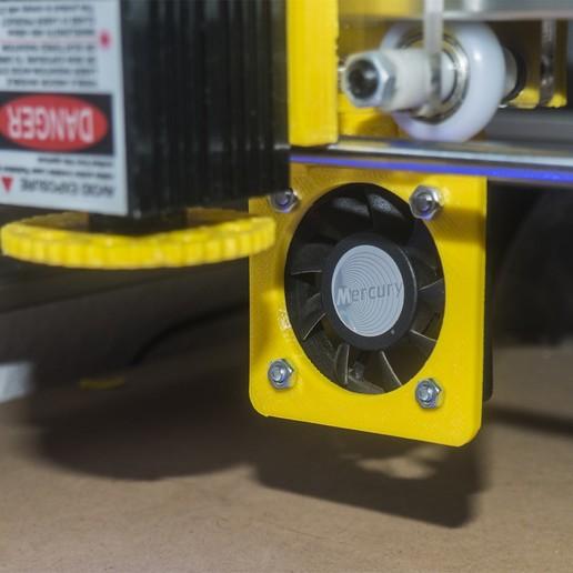 PB290043.jpg Download free STL file Laser Fume Blower support • 3D printing template, dancingchicken