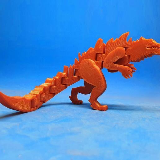 Download free 3D printing designs Flexi Godzilla 1998, dancingchicken