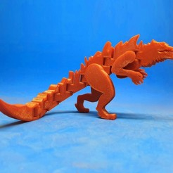 F1.jpg Download free STL file Flexi Godzilla 1998 • Design to 3D print, dancingchicken