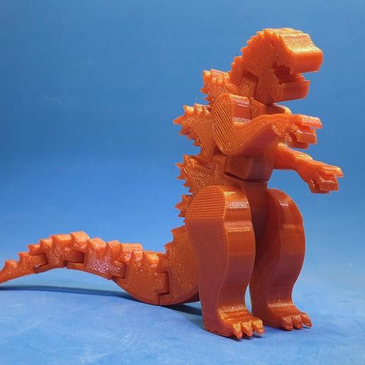 F2.jpg Download free STL file Flexi Godzilla • 3D printable object, dancingchicken