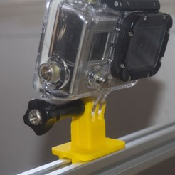 Download free 3D print files Laser GoPro Mount (for 20x20mm extrusion), dancingchicken