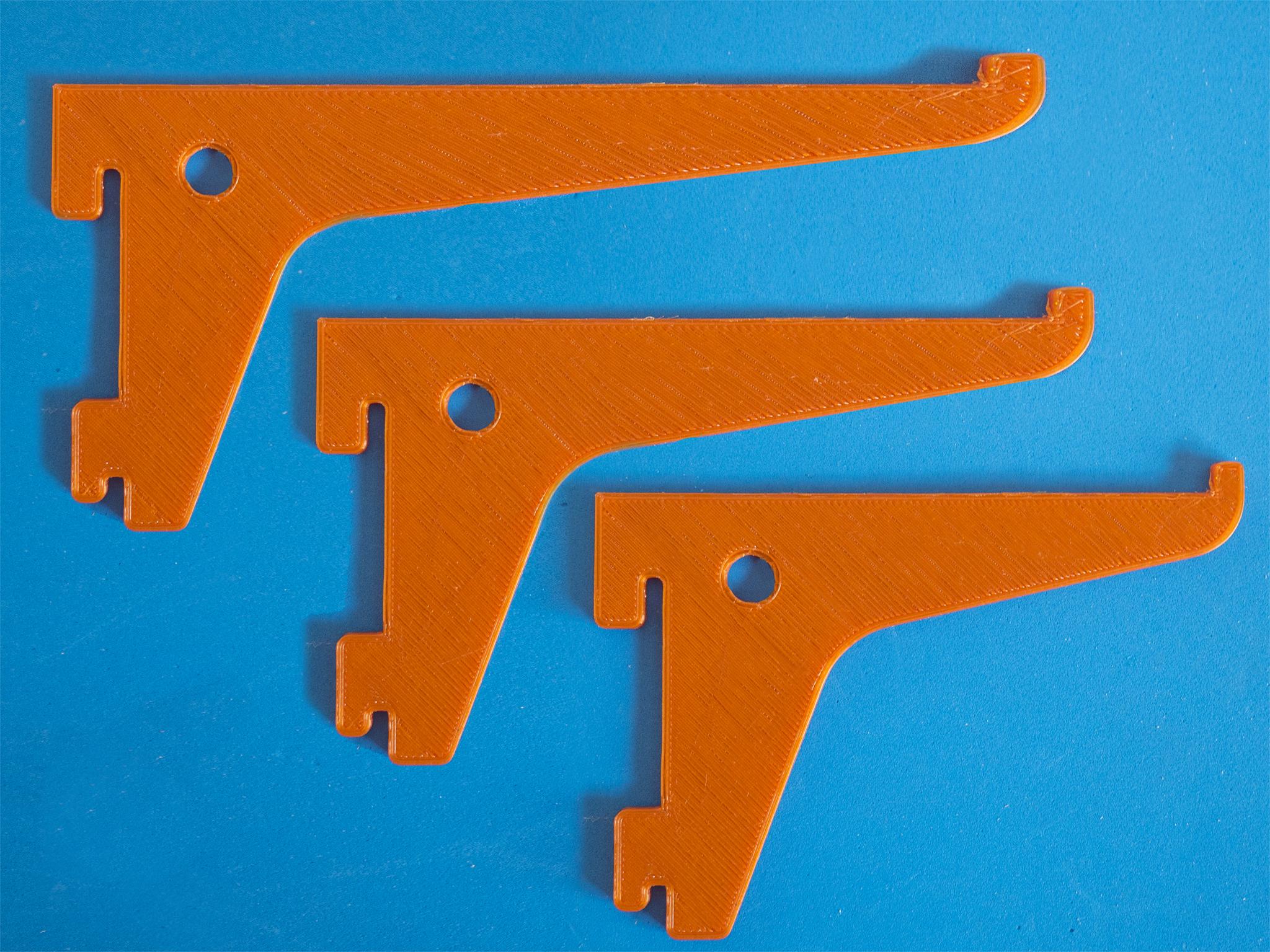 Foto1.jpg Download free STL file Shelf bracket set for single track slot • 3D printer design, dancingchicken