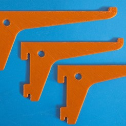 Download free 3D printing templates Shelf bracket set for single track slot, dancingchicken