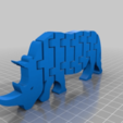 Télécharger fichier STL gratuit Flexi Rhino, dancingchicken