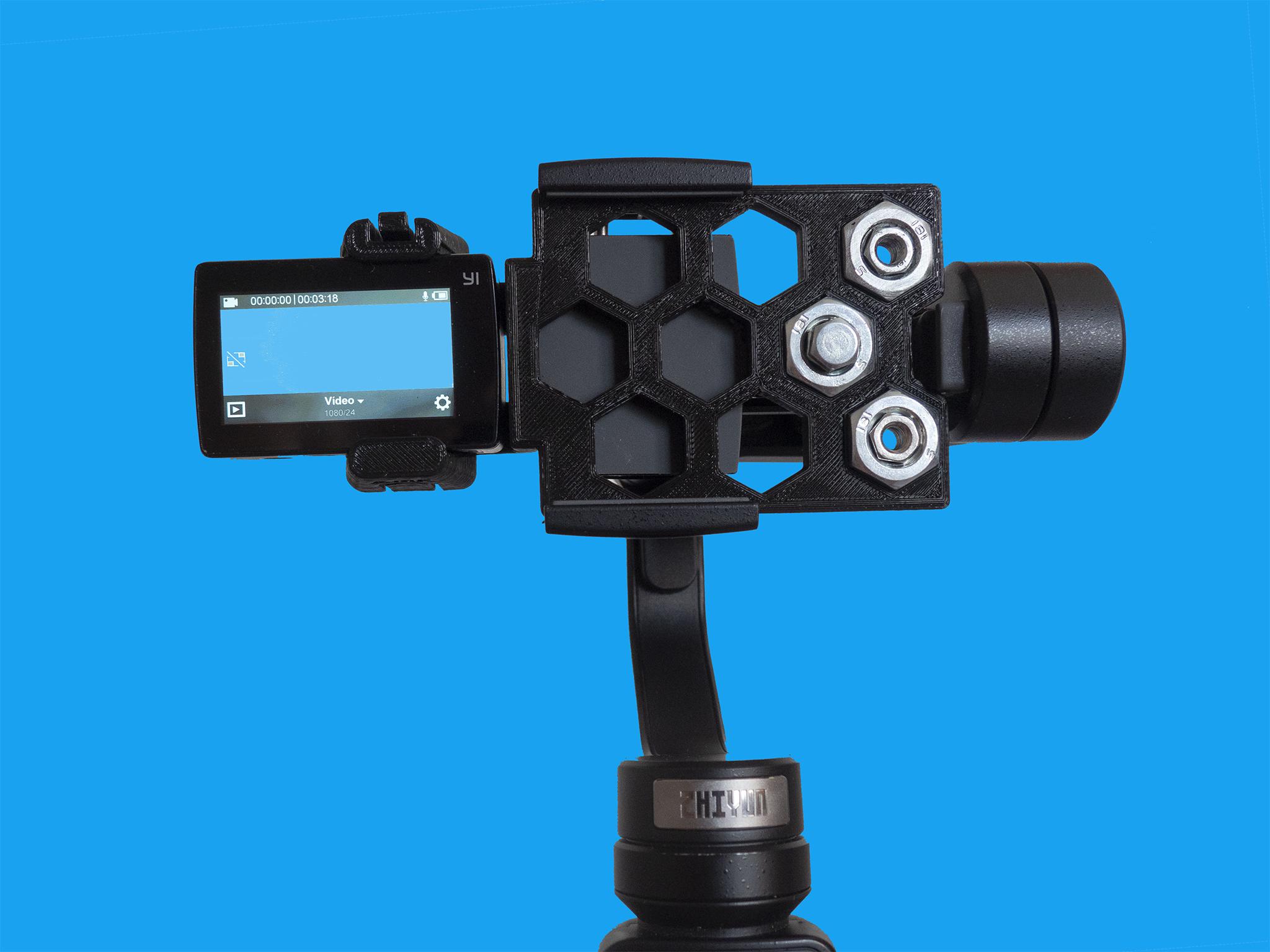 Foto1.jpg Download free STL file Action cam adapter for Zhiyun Smooth 4 • 3D print model, dancingchicken