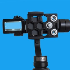 Foto1.jpg Download free STL file Action cam adapter for Zhiyun Smooth 4 • 3D print model, dancingchicken