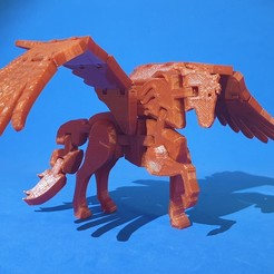 F1.jpg Download free STL file Flexi Pegasus • Model to 3D print, dancingchicken