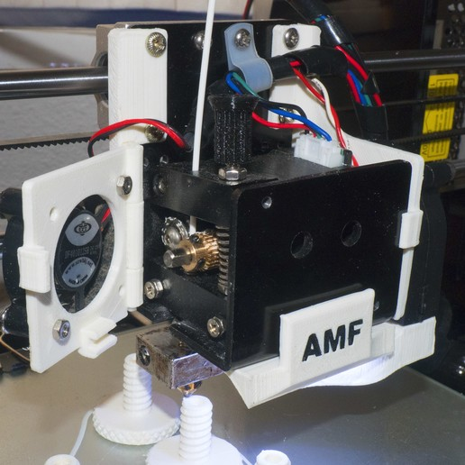 Download free 3D printing templates Anet A8 Extruder + Hotend free access MOD +LED Holder+ right hand fan holder, dancingchicken