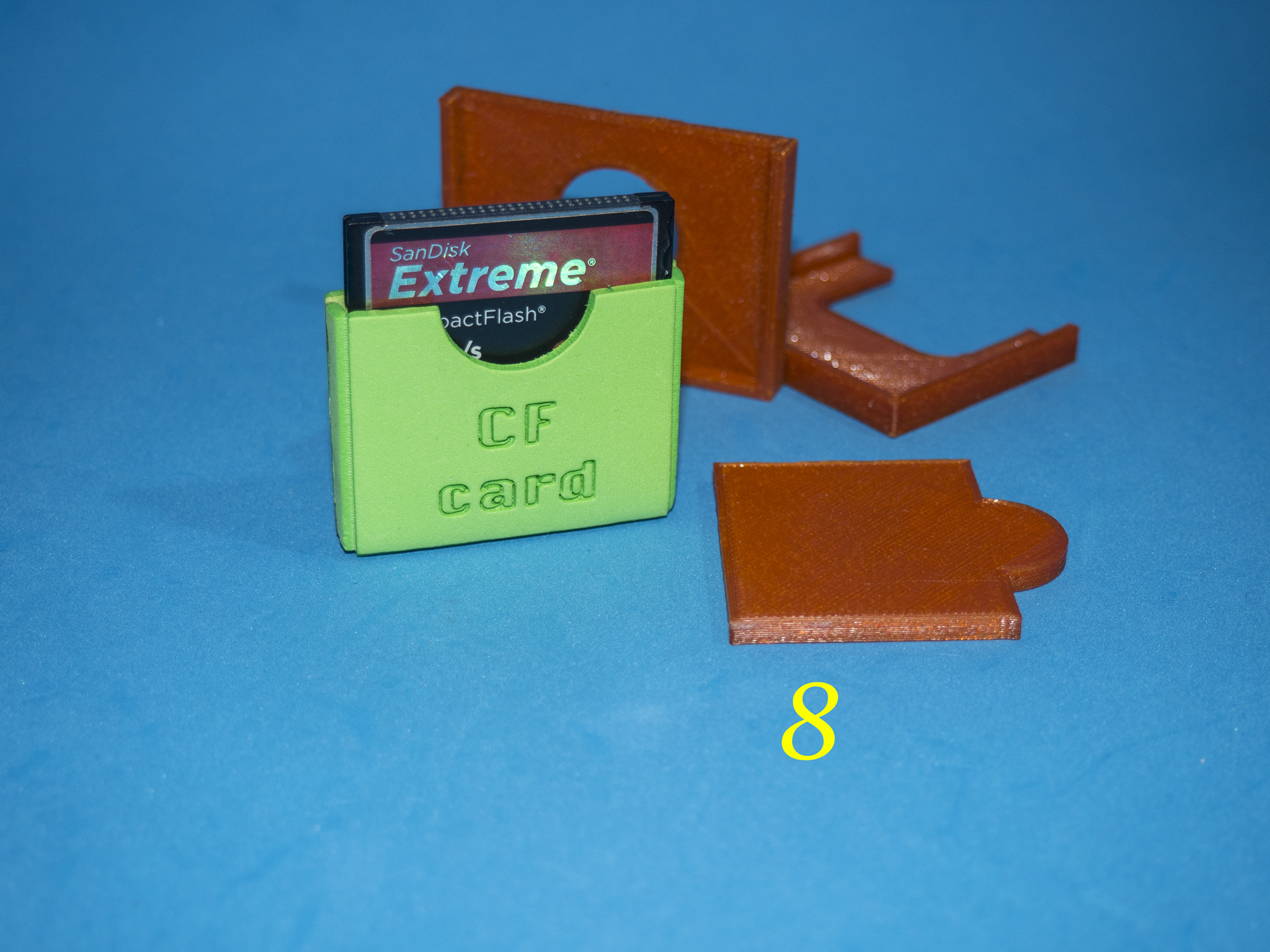 9.jpg Download free STL file Lasercut EVA foam CF Card sleeve + gluing jig • 3D printing template, dancingchicken
