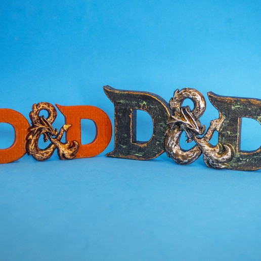 Foto.jpg Download free STL file D&D 3D logo (Dungeons & Dragons) • 3D printable object, dancingchicken