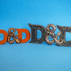 Download free 3D printing templates D&D 3D logo (Dungeons & Dragons), dancingchicken