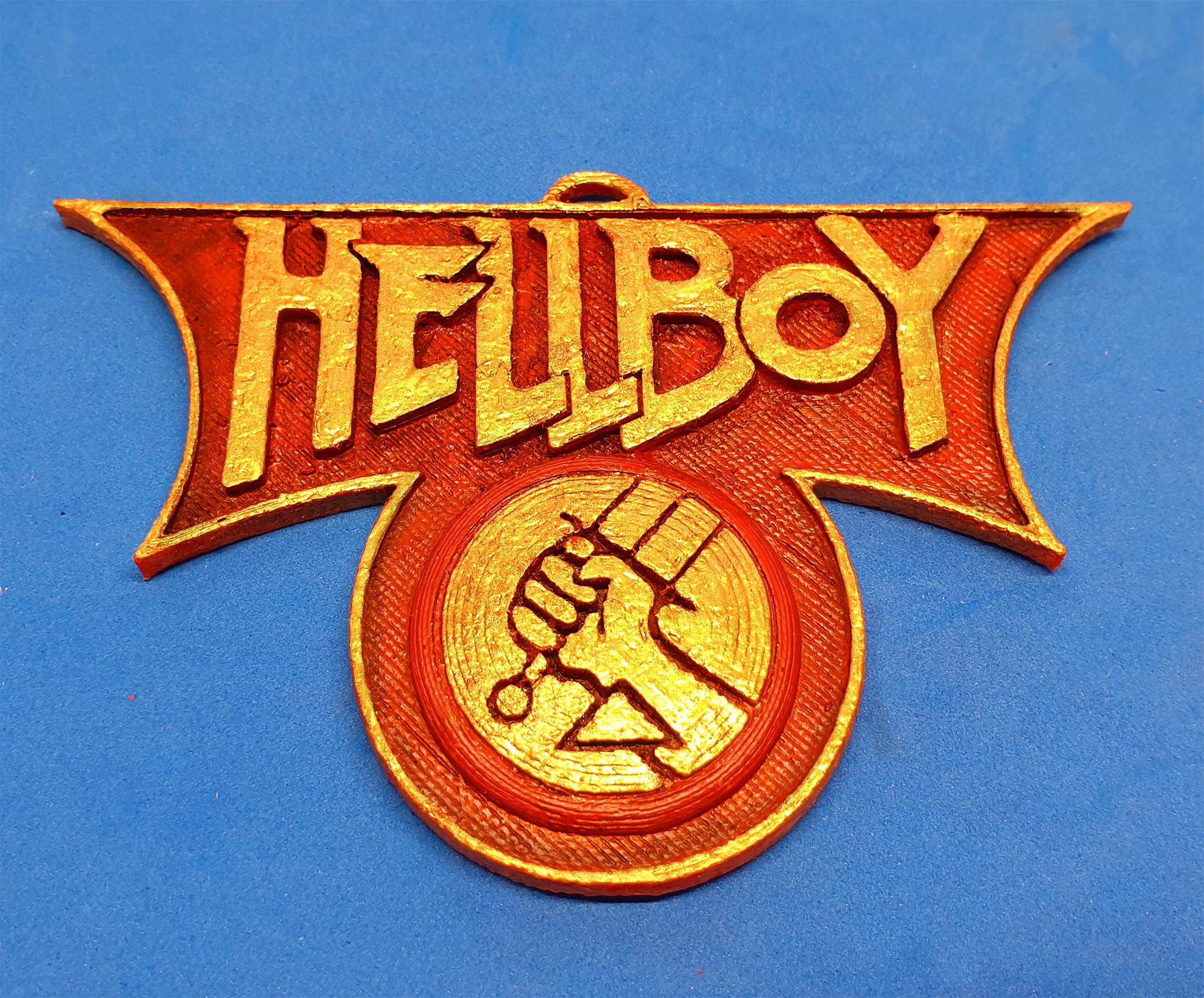 F1.jpg Download free STL file Hellboy Emblem • 3D print design, dancingchicken