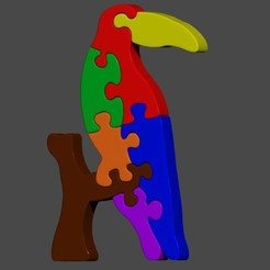 RENDER 1.jpg Download STL file Toucan jigsaw puzzle • Design to 3D print, cspb79