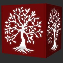 tree aa render.jpg Télécharger fichier OBJ Lampe à bougie Lifetree • Objet pour imprimante 3D, cspb79