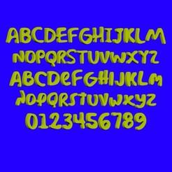 Download STL files Simpson font letters, cspb79
