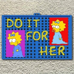 do it a render.jpg Download OBJ file The Simpsons small photo frame • 3D printer template, cspb79