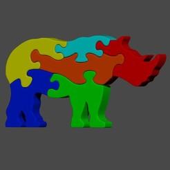 Download 3D printing designs Rhino jigsaw puzzle, cspb79