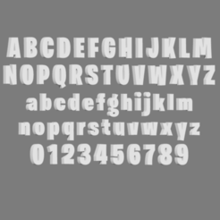 Download 3D printer designs Fortnite Letters Font, cspb79