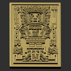 gold fondo.jpg Download OBJ file Viracocha Inca God • 3D printing object, cspb79