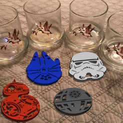 Download 3D printer designs STAR WARS GLASS COASTERS, cspb79