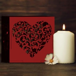 Descargar modelo 3D Love heart box candle holder, cspb79