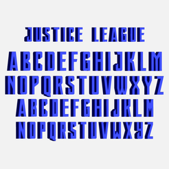 Télécharger STL gratuit Lettres police DC, cspb79