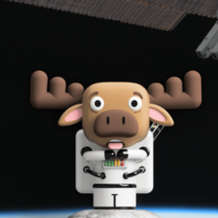 Render 7.png Download STL file Moose Astronaut • 3D printable design, camilaval